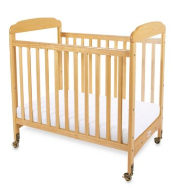 Foundations® Serenity® Compact Fixed-Side Clearview Crib in Natural