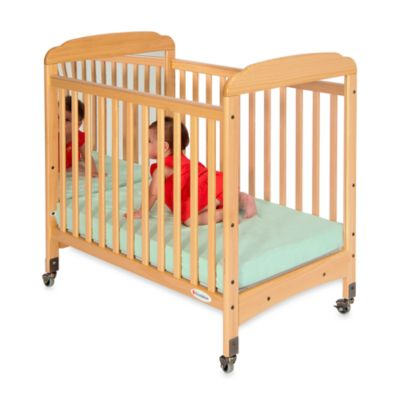 Foundations® Serenity® Compact Fixed-Side Mirror End Crib in Natural