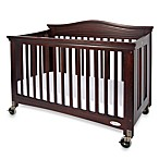 Foundations® Royale® Fixed-Side Folding Full-Size Crib in Antique Cherry