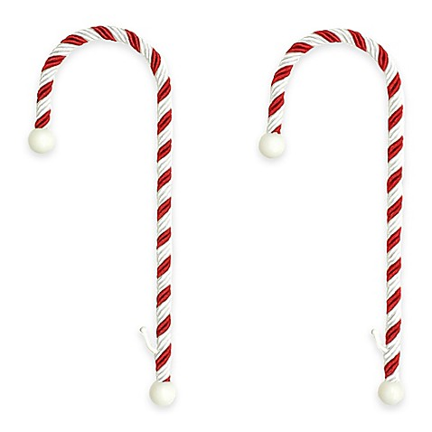 Candy Cane Stocking Holders (Set of 2)