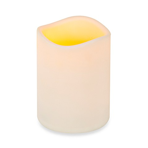 Everlasting Glow® Flameless LED Wavy Edge Pillar Candles