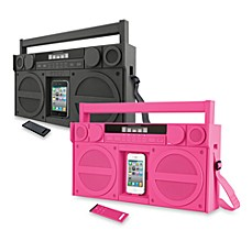 iHome® iP4 Portable FM Stereo Boombox for iPhone/iPod