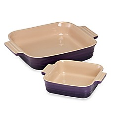 Le Creuset® 2-Piece Square Baking Dish Set - Cassis