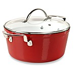 Philippe Richard® 6-Quart Red Cast Enamel Round Covered Casserole
