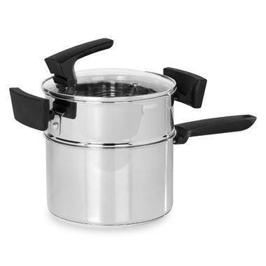 Philippe Richard® 3-Quart Stackable Stainless Steel Double Boiler Saucepan 3-Piece Set