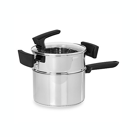 Philippe Richard® 3-Quart Stackable Stainless Steel Double Boiler Saucepan 3-Piece Set