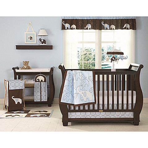 Carter's® Blue Elephant 4-Piece Crib Bedding Set