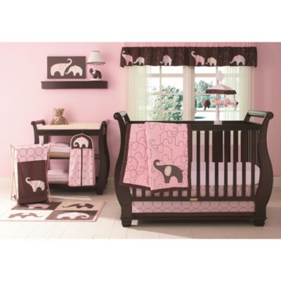 Carter's® Pink Elephant 4-Piece Crib Bedding Set
