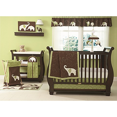 Carter's® Green Elephant 4-Piece Crib Bedding Set