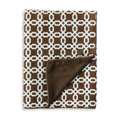 SKIP*HOP® Chocolate Lattice Nursery Blanket
