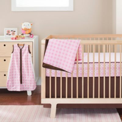 SKIP*HOP® Pink Lattice Complete Sheet™ 4-Piece Crib Bedding Set