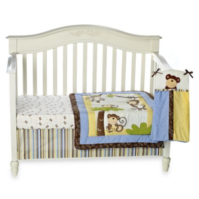 CoCaLo® Monkey Time 4-Piece Crib Bedding Set