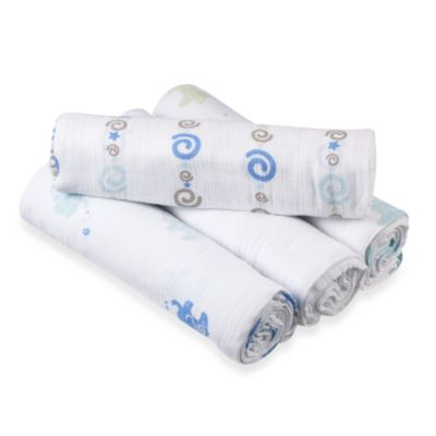 aden® by aden + anais® 4-Pack Muslin swaddleplus® Blankets in Jungle Jive
