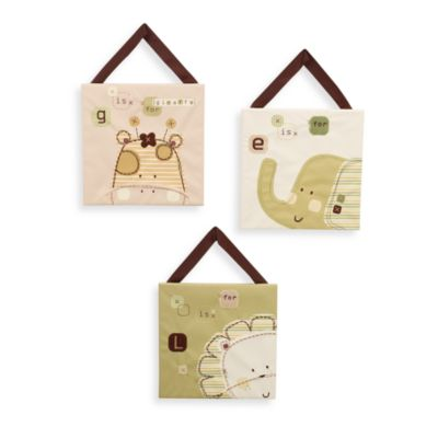 Nature's Purest™ Sleepy Safari 3-Piece Wall Hanging