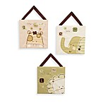 CoCaLo® Nature's Purest™ Sleepy Safari 3-Piece Wall Hanging