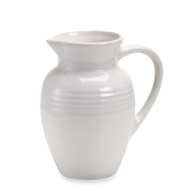 Le Creuset® 2 1/4-Quart Stoneware Pitcher in White