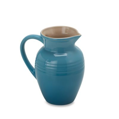 Le Creuset® 2 1/4-Quart Stoneware Pitcher in Caribbean Blue