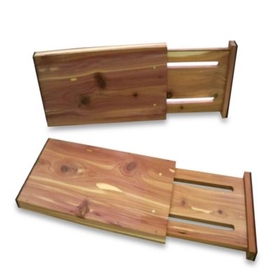 "Cedar Custom Closet 5"" Drawer Dividers (Set of 2)"
