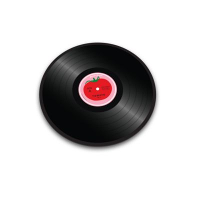 Joseph Joseph® Vinyl Records Worktop Saver in Tomato