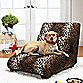 Elliot Pet Chaise Lounger with Bone Shaped Pillow - Leopard