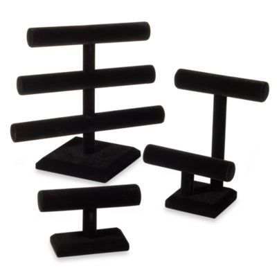 2-Tier Black Velvet Jewelry Organizer