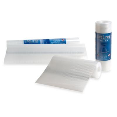 Warp Brothers® LifeLiner® Clear 12-Inch x 25-Foot Shelf Liner