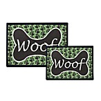PB Paws Pet Collection Woof Pet Mats (Coffee Bean/Pesto)