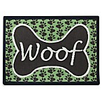 PB Paws Pet Collection Woof 19-Inch x 27-Inch Pet Mat in Coffee Bean/Pesto