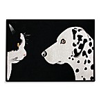 PB Paws Pet Collection Best Friends 13-Inch x 19-Inch Pet Mat in Black/White