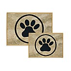 PB Paws Pet Collection Paws Pet Mats (Black and Gold)