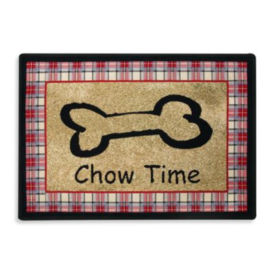 PB Paws Pet Collection Chow Time 13-Inch x 19-Inch Pet Mat in Multi