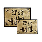 PB Paws Pet Collection Dog Friends Pet Mats (Gold)