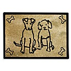 PB Paws Pet Collection Dog Friends 19-Inch x 27-Inch Pet Mat in Gold