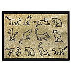 PB Paws Pet Collection Kitten Fun 13-Inch x 19-Inch Cat Litter Mat in Gold and Black