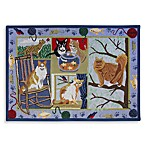 PB Paws Pet Collection Cat Days 19-Inch x 27-Inch Cat Litter Mat in Multi