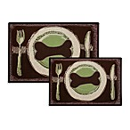 PB Paws Pet Collection Dog's Dinner Pet Mat (Leaf/Pesto)