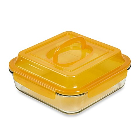 Denmark® 2-Piece Bake & Carry Square Baking Dish in Orange