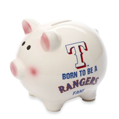 "The Memory Company MLB® Born To Be"" Piggy Bankintex®as Rangers"