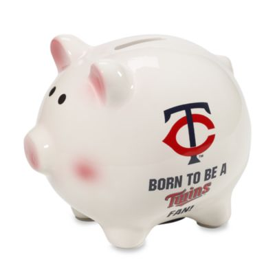 MLB® Minnesota Twins The Memory Company Born To Be-Inch Piggy Bank
