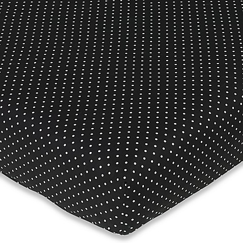 Sweet Jojo Designs Madison Mini Dot Fitted Crib Sheet