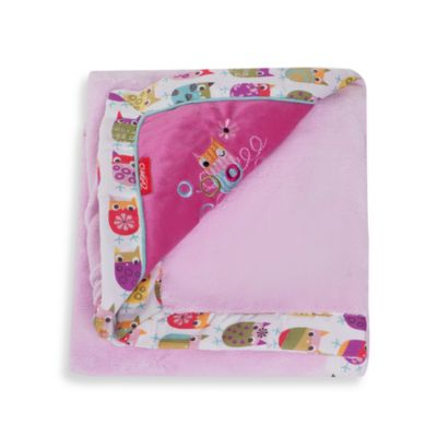 Zutano Owls Embroidered Velour Blanket