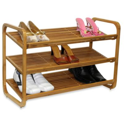 Oceanstar 3-Tier Bamboo Shoe Rack