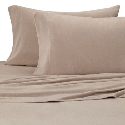 SHEEX®  Performance Fleece Standard Pillowcase in Khaki (Set of 2)