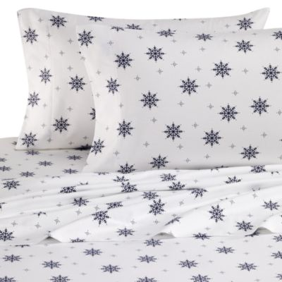 King Flannel Sheets in Snowflake