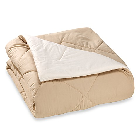 The Seasons Collection® Reversible Flannel Comforter in Taupe/Ecru