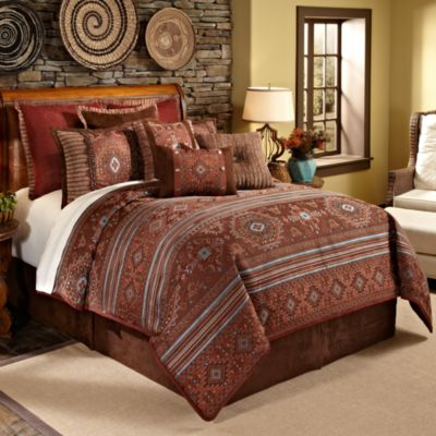 Red and Brown Comforter Set