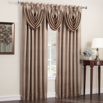 Anastasia Rod Pocket/Back Tab Window Valance