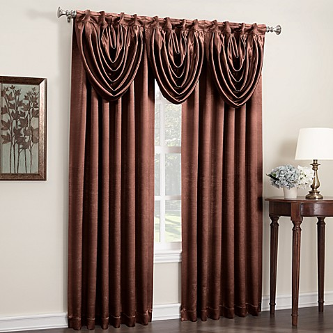 Anastasia Rod Pocket/Back Tab 84-Inch Window Curtain Panel in Copper