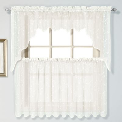 Savannah Window Swag Valance in Oyster