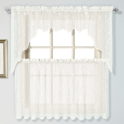 Savannah Linen Window Treatments In Oyster Bed Bath Beyond